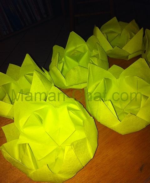 Lotus serviette en papier