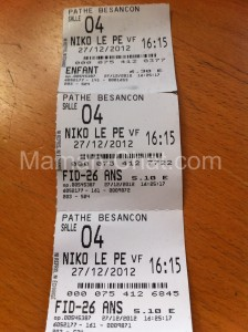 Ticket de cinéma
