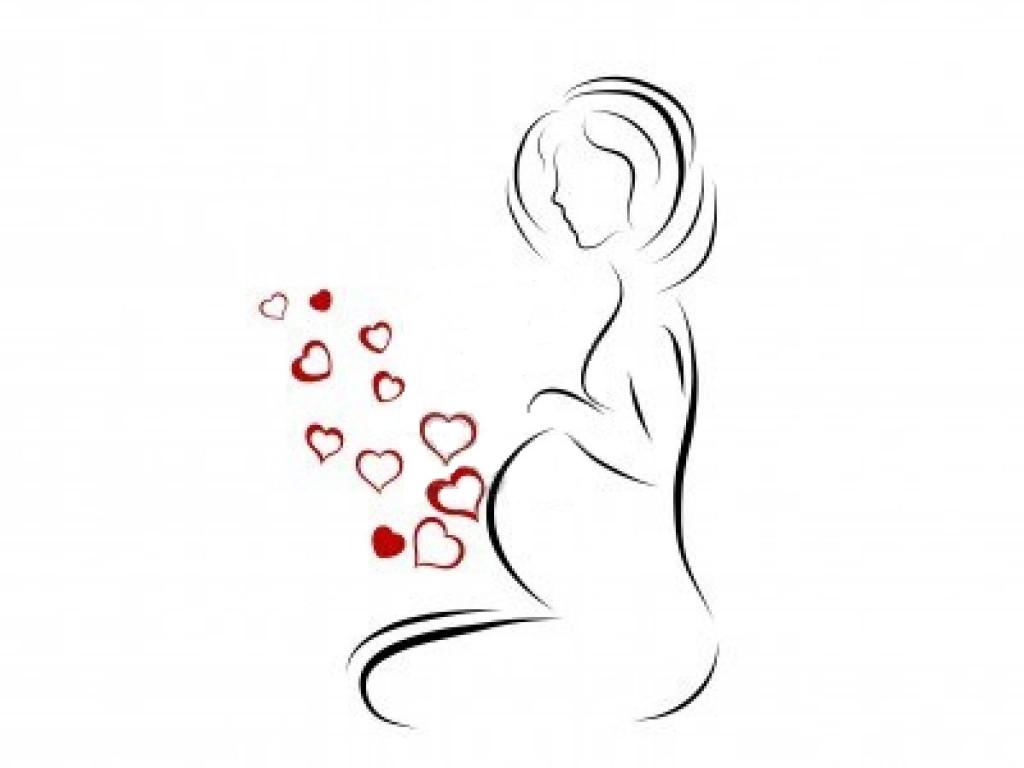 Femme enceinte silhouette