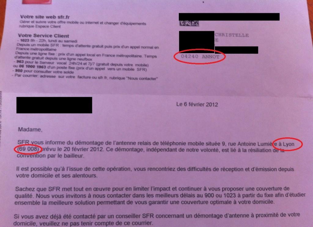 SFR désactivation de ligne