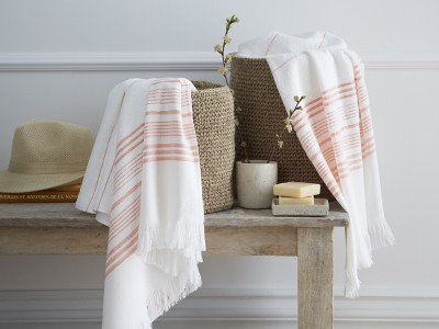 drap de douche orange